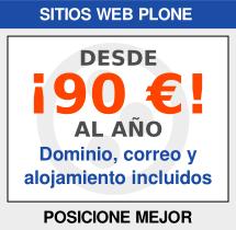 Sitios web Plone: ¡Desde 90 € al año!