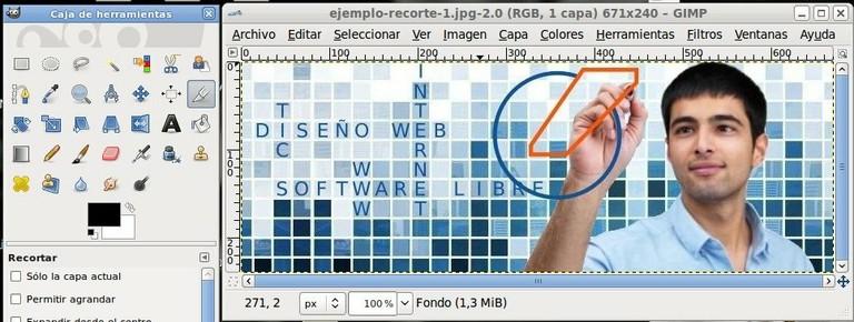 Imagen abierta en GIMP