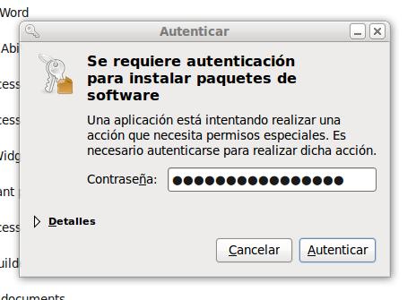 Autenticación del superusuario root en el Centro de software de Ubuntu
