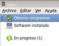 instalacion en progreso (Centro de software de Ubuntu).