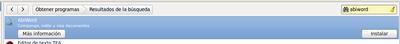 Instalar abiword desde los resultados de la búsqueda del Centro de software de Ubuntu