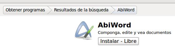 Instalar una aplicación libre desde su ficha informativa en el Centro de software de Ubuntu
