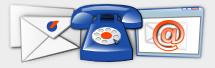 Correo electrónico, teléfonos, dirección postal,...