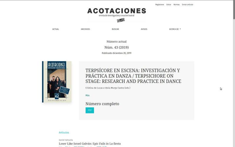 OJS RESAD Acotaciones (Madrid)